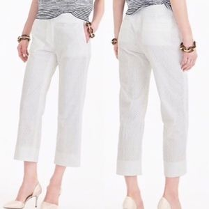 Make Offer J Crew Patio Crop Pant in White Eyelet